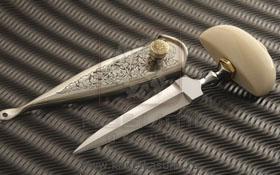 Охотничий нож, форма клинка кинжал, нескладной